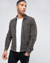 Selected Plus Suede Shirt Jacket