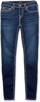 True Religion Women's Halle Super T Skinny Leg fit Jean with Back Flap Pockets