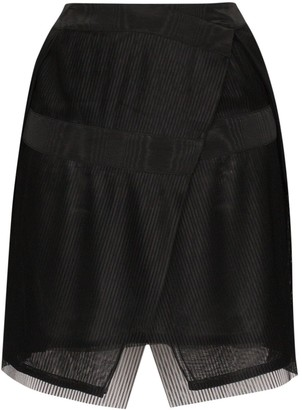 032c Plisse Pleated Wrap Mini Skirt