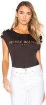 Pierre Balmain Crew Neck Graphic T Shirt
