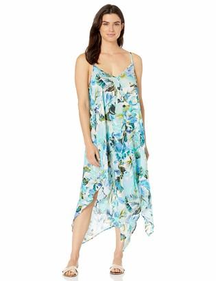 La Blanca Women's V-Neck Maxi Scarf Dress