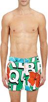 Vilebrequin Men's Merise Flower Swim Trunks-GREEN