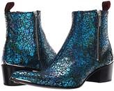 Jeffery West Sylvian Double Zip Boot (Blue/Black) Men's Shoes
