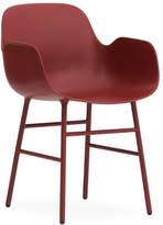 Normann Copenhagen Form Armchair Red/Steel