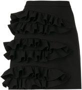 MSGM ruffled detail mini skirt - women - Polyester/Spandex/Elastane/Viscose - 40
