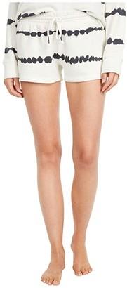 PJ Salvage Minimalist Tie-Dye Shorts (Ivory) Women's Pajama