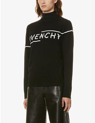 Givenchy Brand-pattern crewneck wool jumper