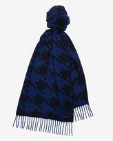 HARRIS Cashmere dogtooth design scarf