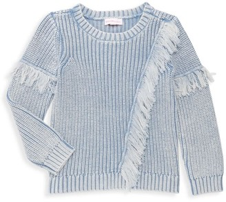 Design History Little Girl's Fringed Knit Top