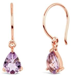 Dinny Hall Rose Gold Gem Drop Rose De France Drop Earrings