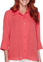 Sag Harbor Bahama Mama 3/4-Sleeve Shirt