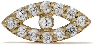 Feidt Paris 18kt yellow gold Bo Oeil diamond stud
