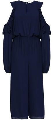MICHAEL Michael Kors Cold-shoulder Cropped Georgette Jumpsuit