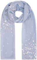 Yours Clothing YoursClothing Plus Size Womens Shawl Ladies Pale Foil Print Dragonfly Scarf