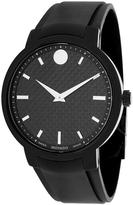 Movado 606849 Men's Gravity Black Silicone Watch