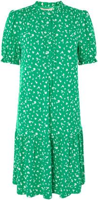 Monsoon Cosima Ditsy Floral Short Dress Green