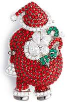 Nadri Women's Jolly Santa Pin