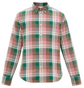 Rag & Bone Tomlin Checked Button-down Cotton Shirt - Mens - Pink Multi