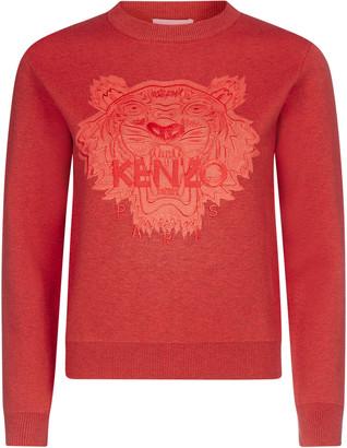 Kenzo Tiger Embroidered Crewneck Jumper