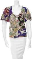 Just Cavalli Plunging V-Neck Top