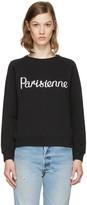 MAISON KITSUNÉ Black parisienne Pullover