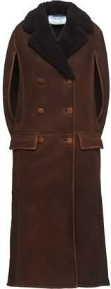 Prada Double-Breasted Cape Coat