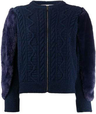 Stella McCartney Fur Free Fur cable-knit jacket
