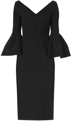 Carolina Herrera Bell-Sleeve Sheath Dress