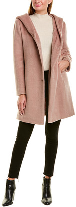 Cole Haan Asymmetrical Wool-Blend Coat
