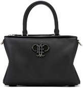Emilio Pucci Black Leather Logo Duffle Bag