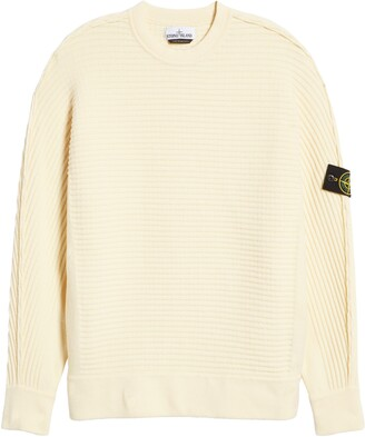 Stone Island Logo Patch Slim Fit Knit Sweater