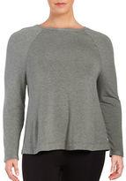 Lord & Taylor Plus Raglan Long-Sleeve Sleeve Shirt