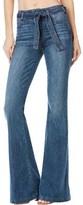 Paige Women's Chandler Belted Flare Jean in Weston