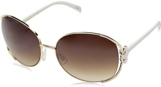 Southpole 420SP Oval Vented Metal UV Protective Fleur de Lis Temple Sunglasses | Wear Year-Round | A Gift of Youth