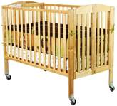 Dream On Me Folding Full Size Convenience Crib in Natural
