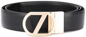 Ermenegildo Zegna Logo Buckle Belt