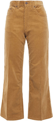 Marc Jacobs Cropped Cotton-blend Corduroy Straight-leg Pants