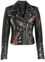 Blank NYC Embroidered Studded Moto Jacket