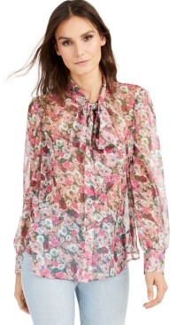 INC International Concepts Inc Petite Floral-Print Blouse, Created for Macy's