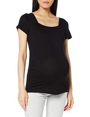 Dorothy Perkins Maternity Women's Square Neck Short Sleeve TOP T - Shirt, Black(Size:)