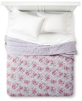 Simply Shabby Chic Purple Berry Rose Linen Blend Quilt - Simply Shabby Chic