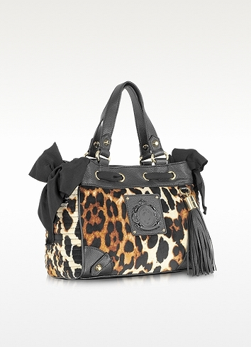 Juicy Couture Animal Printed Velour Mini Daydreamer Tote
