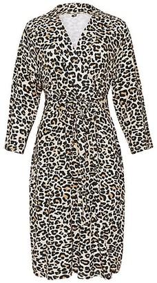Posh Peanut Lana Leopard-Print Mommy Robe