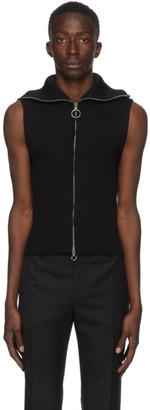 Paco Rabanne Black Wool Knit Vest