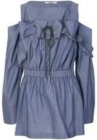 Chalayan off-shoulder drawstring blouse