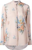 Alexander McQueen floral print shirt - women - Silk - 44