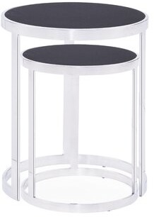 Blink Home Soho 2 Piece Nesting Tables Table Top Color: Charcoal