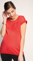 Esprit OUTLET maternity flowing blouse with chiffon panel