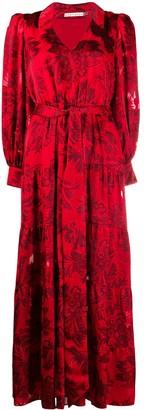 Alice + Olivia Floral Embroidered Shirt Dress