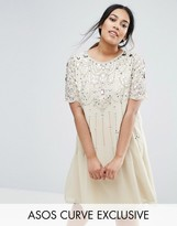 Asos Stone Embellished Swing Dress